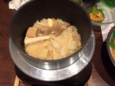 鶏と筍の釜飯