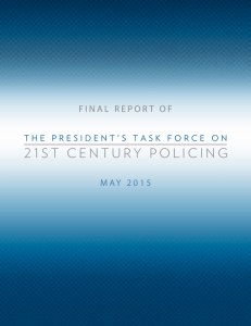 21st Century Policing Final Report