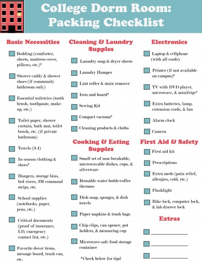 Complete Dorm Room Ng Checklist Tips My First Apartment