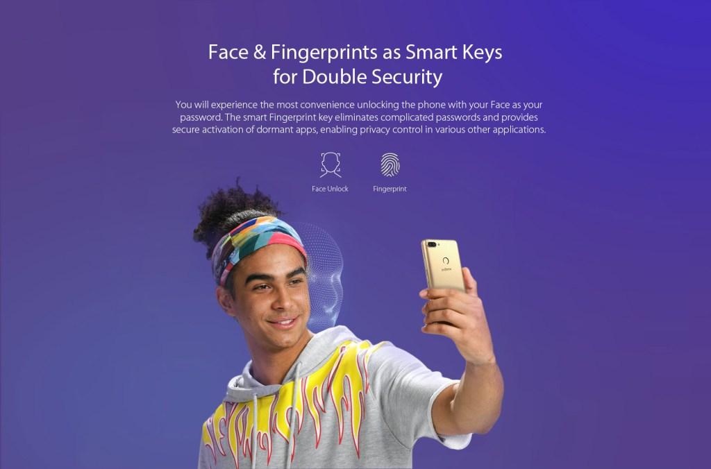 Infinix Hot 6 X606D BG couple 16GB ROM 1GB RAM 13MP 8MP Dual Camera face unlock fingerprint scanner