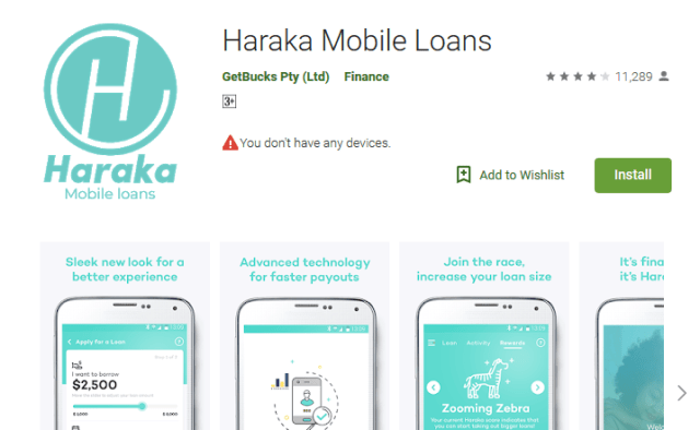 install haraka loan app haraka application form google play store