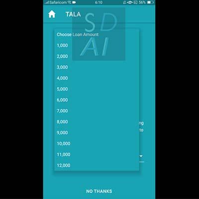 tala loan apply for tala loan tala application form choose loan amount you need qualify for loan