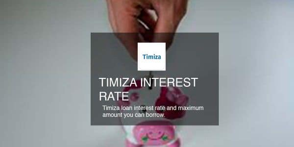 Timiza loan interest rate