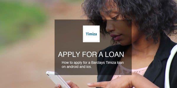 apply Barclays timiza loan android ios