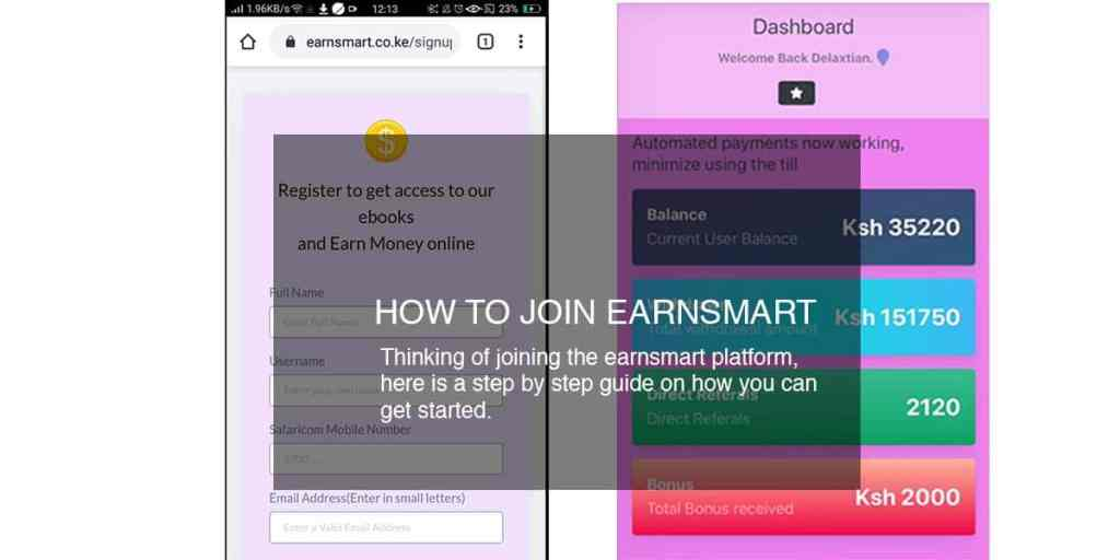 how to join earnsmart register make payment