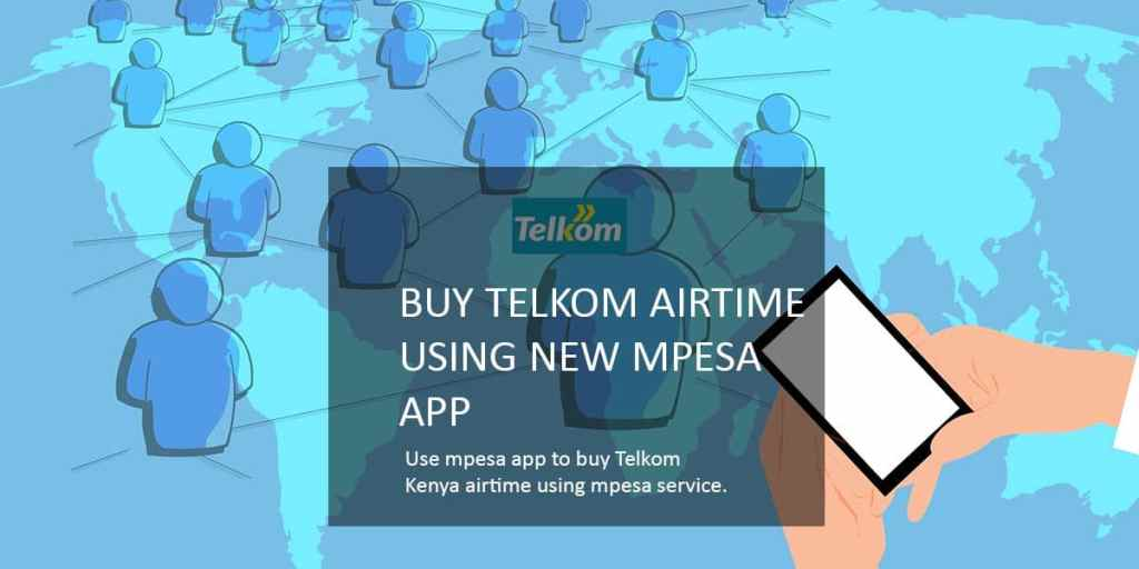 top up telkom airtime credit using new mpesa app