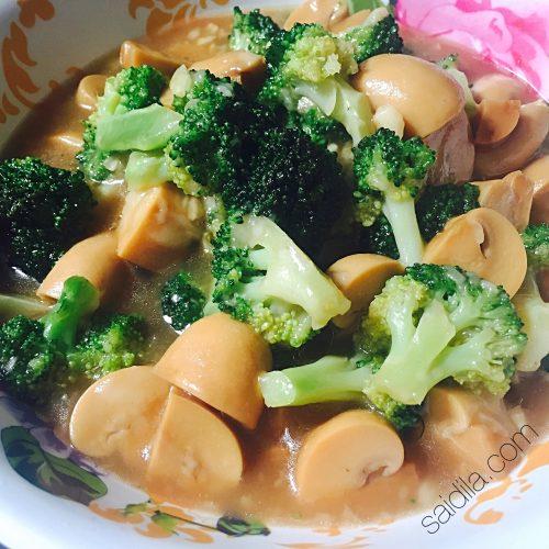 Resipi Brokoli Cendawan Butang Sedap Dan Mudah