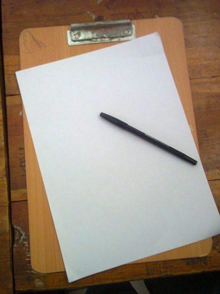 Aku Hantar Karangan Dengan Kertas Kosong