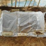 農業施設:ビニールハウス内の踏込み温床づくり(3)