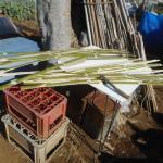農業資材:割竹支柱づくり(2回目)