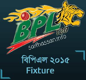 BPL Fixture 2015