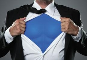 hero costume under suit