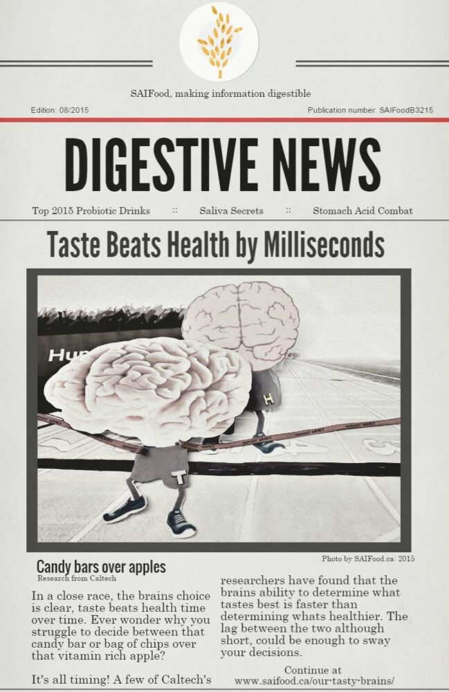 Health food and the tasty brain
