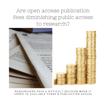 Are open access publication fees impacting public researches accessibility?