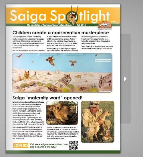 Autumn edition of Saiga Spotlight out now