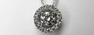 ダイヤモンドが留まったオーダーメイドのペンダント|SAIJO|京都 宇治|オーダーメイドジュエリー