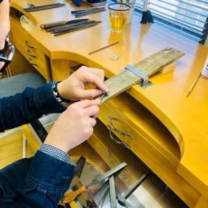 シルバーペアリング製作体験|SAIJO|京都/宇治|彫金教室/体験/アクセサリースクール