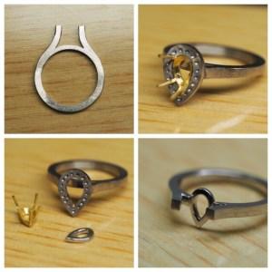 オーダーメイドの婚約指輪 製作途中|SAIJO|京都 宇治|オーダーメイドジュエリー