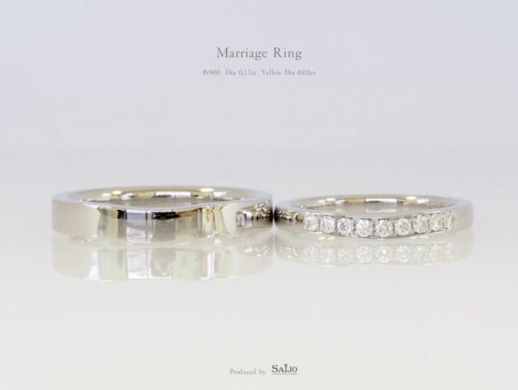 SAIJOで作られたオーダーメイドの結婚指輪