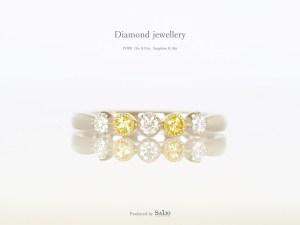 ダイヤモンドとイエローサファイアが留められたオーダーメイドの指輪|SAIJO|京都 宇治|オーダーメイドジュエリー