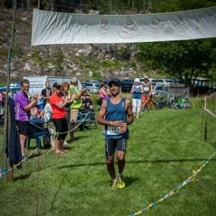 Vinnaren på 10km, Ashkan Fivrin går i mål