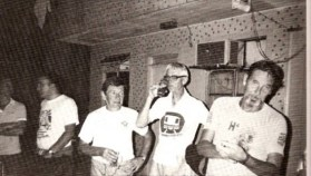 Graeme (second from right) at a Hash OnOn. On his left Jules Brett, on his right Ron Fitzpatrick