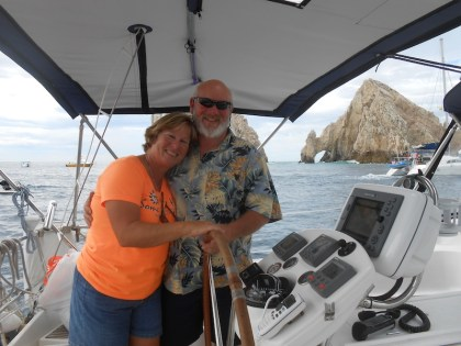 Passing El Arco, arriving in Cabo San Lucas, Mexico