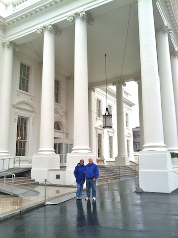 Visiting the Prez.