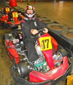 A man and his go kart...