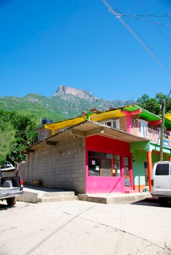 Colorful buildings of Urique
