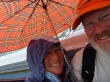 Rain rain - don't you love the tartan umbrella?
