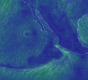 The new view of named storm Simon at 3am Thursday
