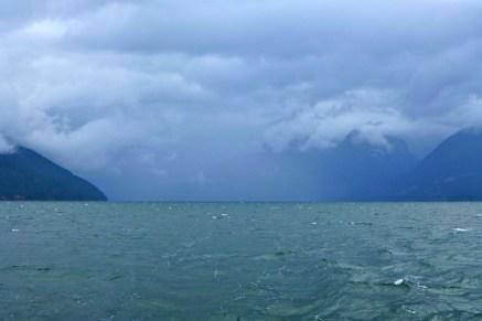 Storm clouds in Desolation Sound