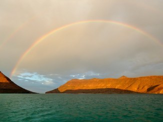Beautiful rainbow sunset