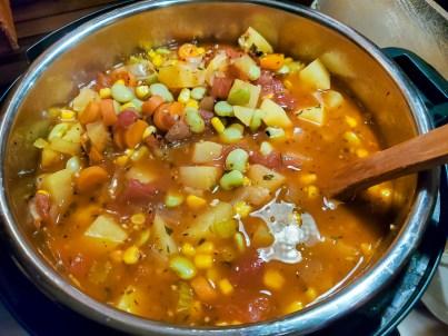 big pot of Julie's Vegetable Soup