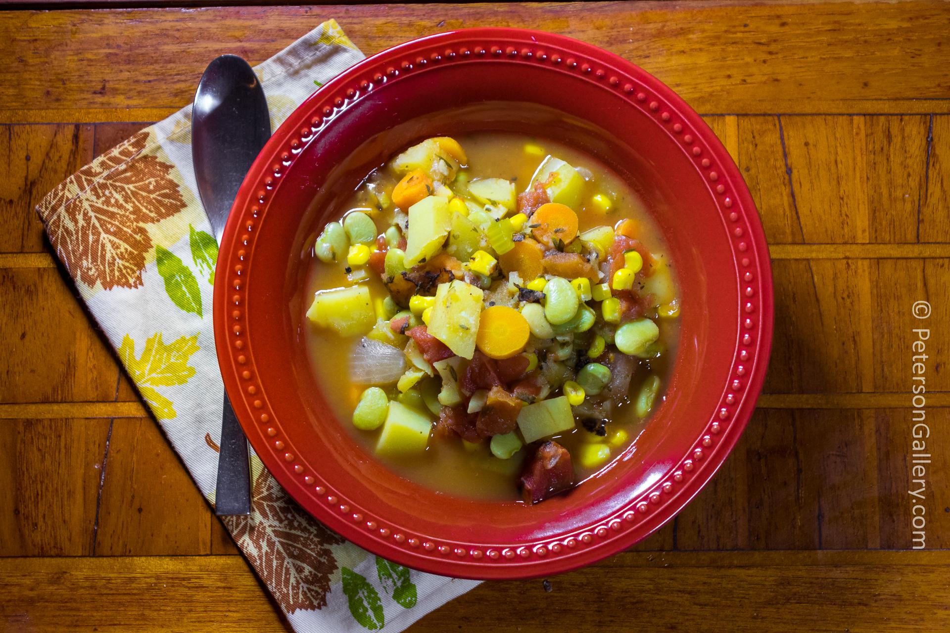 bowl of Julie's Vegetable Soup
