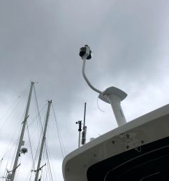 before i mounted the radar i tested the navigation lights and ensured the new wiring worked as part of this i removed the old anchor light mount from the  [ 1536 x 2048 Pixel ]