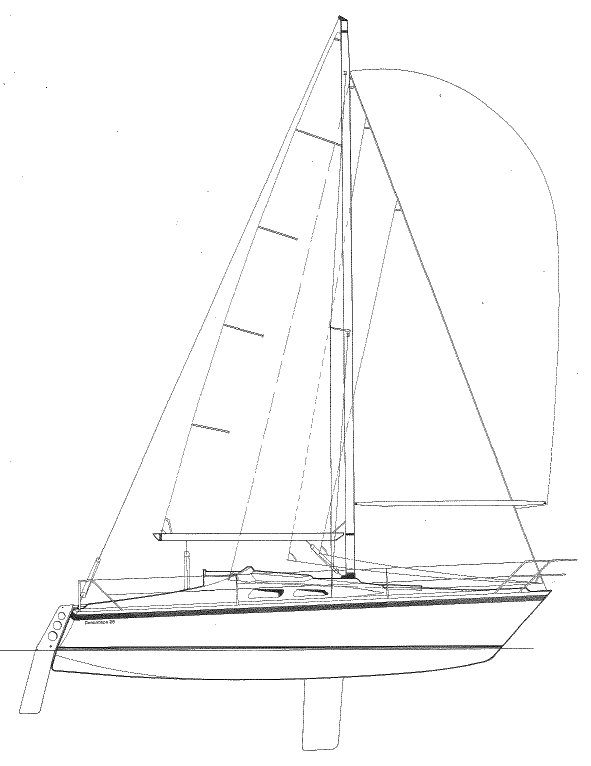 DUNCANSON 25 Sailboat