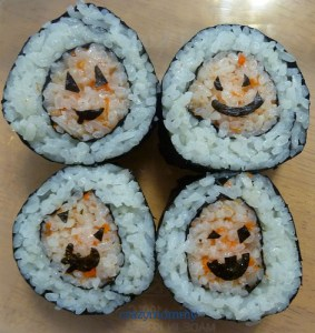 sushi roll faces