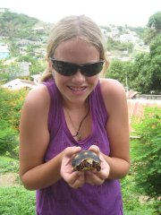 With a rescued Tortoise in Canuoan