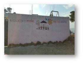 Mural outside school