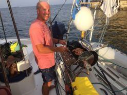 Mallorca catamaran day trip food barbecue bbq prawns