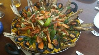 Mallorca catamaran day trip food paella