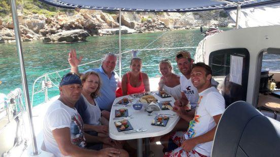 Mallorca catamaran day trip food