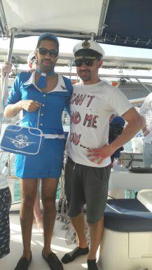 Mallorca private catamaran day trip stag party