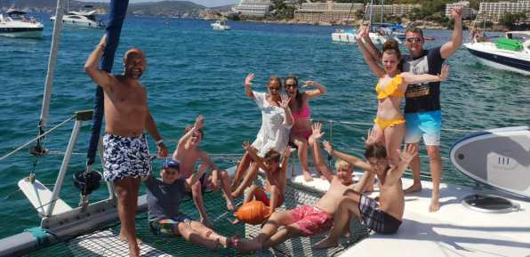 Mallorca private catamaran day trip family