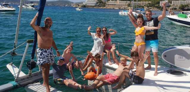 Mallorca private catamaran day trip family