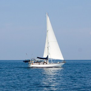 sail boat on the ocean