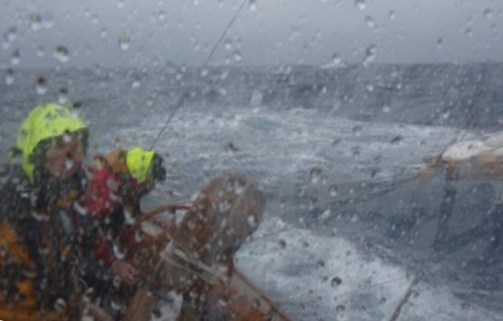 Sailing offshore in North Atlantic in November