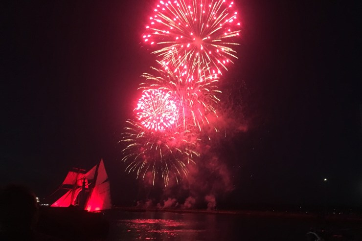 Feuerwerk Brest
